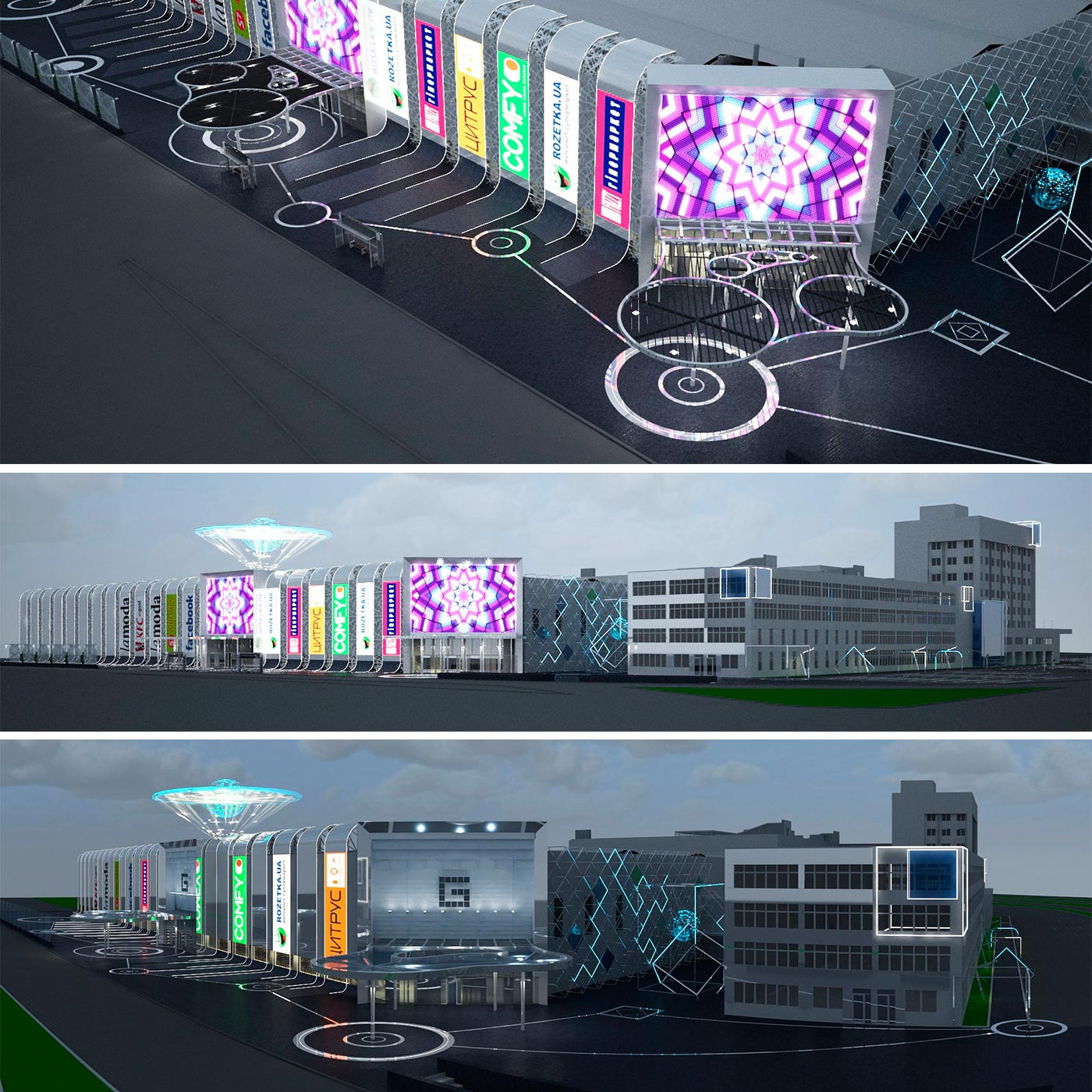 Retail fasad in 3d and visualization