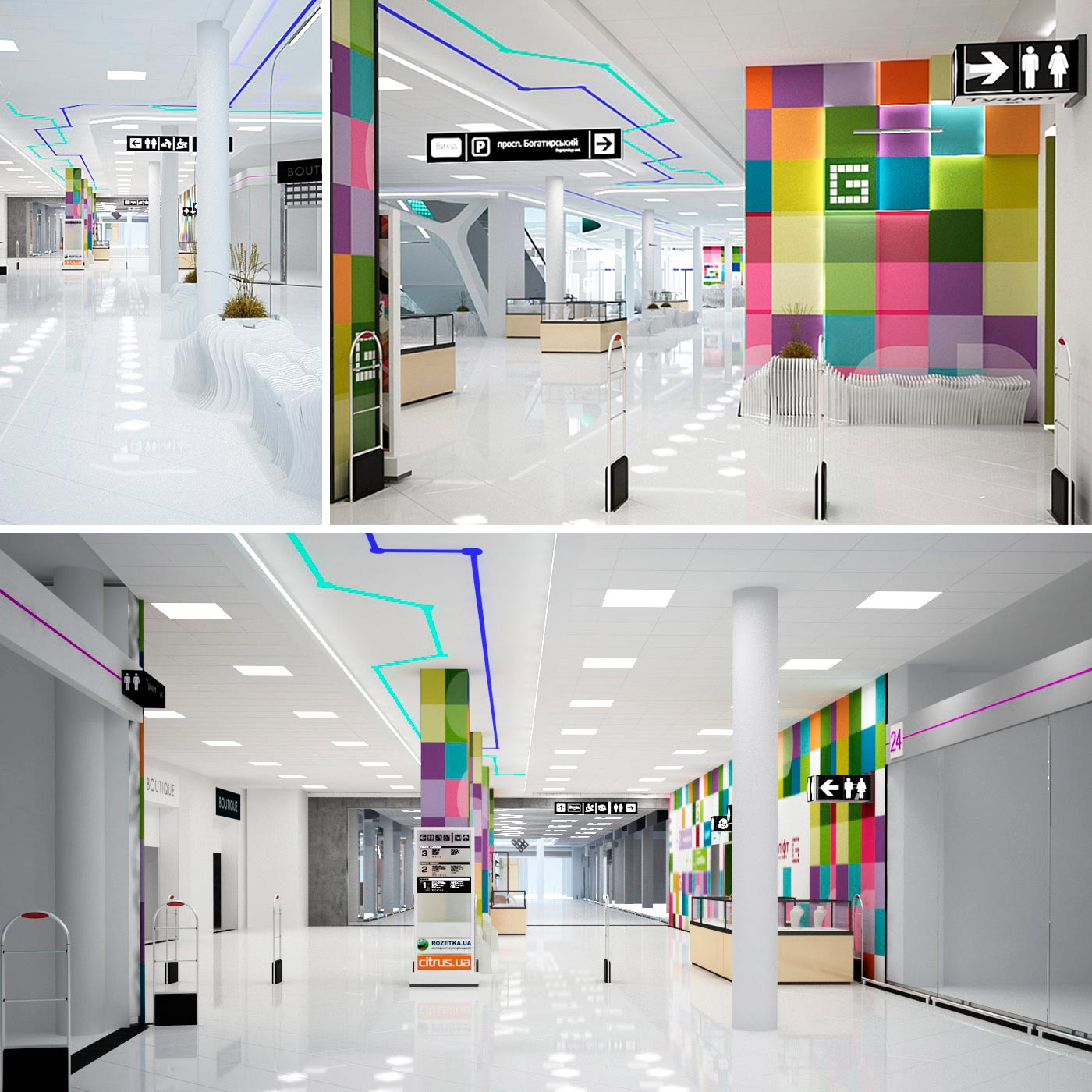 Retail commercial property and branding